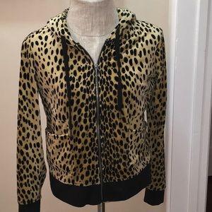 Juicy Couture Cheetah Print ZIP Hoodie